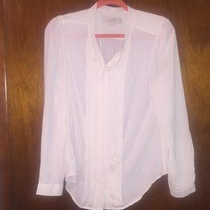 LOFT Woman's medium ivory blouse